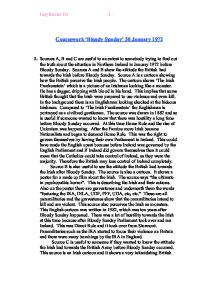 bloody sunday 1972 essay Free essay: the build up to bloody sunday on saturday 5 october 1968 a civil rights march was organised, but it was stopped before it had really begun by the.