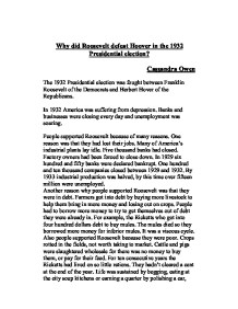 apush dbq 1984 hoover and roosevelt Free essay: dbq #3 president franklin d roosevelt, the thirty-second president  of the united states, was a central figure for the united states.