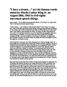 Martin luther king rhetorical essays