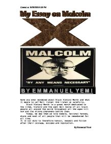 essay on malcolm x education