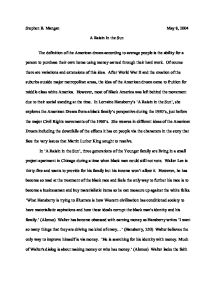 Raisin in the sun essays a raisin in the sun essay questions a