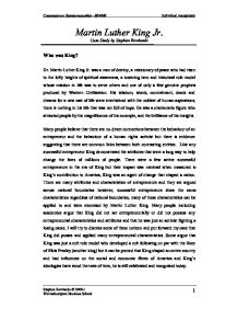 Mlk Essay  Underfontanacountryinncom How Significant Was Martin Luther King Jnr To The Success Of The  English Essay Writer also Persuasive Essay Sample Paper  Cause And Effect Essay Topics For High School
