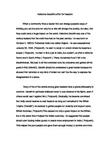 Essay mahatma gandhi english