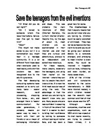 essay social issues among teenagers