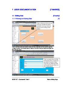 Gcse ict coursework user guide