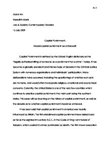 capital punishment should it be legal essay Essay on capital punishment should be illegal bedau believes that the message sent by the death penalty is that in order for justice there must be more death.