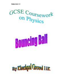 Bouncing balls coursework gcse