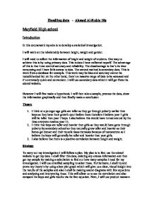 mayfield high coursework introduction