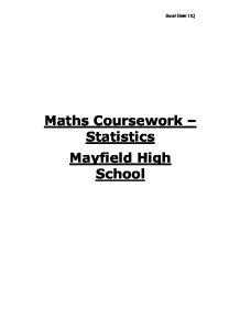 Maths coursework statistics gcse