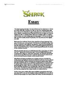 shrek essay gcse media studies marked by teachers com page 1 zoom in