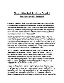 essay on capital punishment persuasive essay on capital punishment