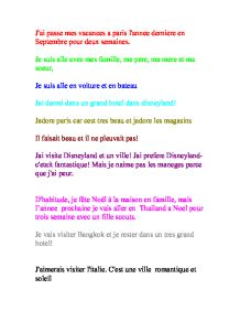 mes vacances french essay Contextual translation of essay on 'how i spent my last christmas holiday into french human translations with examples: j'ai passé.