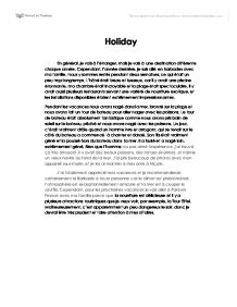 creative writing on holiday essay