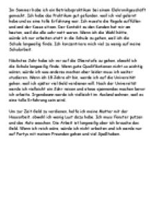 essay on myself in german language