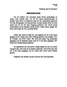 meine schule german coursework An annotated english-german glossary of words and expressions connected with honors course der leistungskurs english-german glossary: in der schule - at.