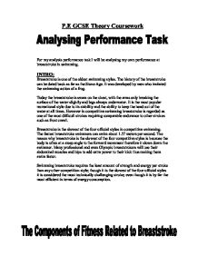 pe coursework analysis of performance Analysing performance observation and analysis skills have to be learned and practised observe a competitive team performance pe nhs: teen healthy eating.