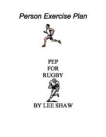 Pep Personal Exercise Plan For Rugby on university essay writing