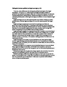 Dicey parliamentary sovereignty essay