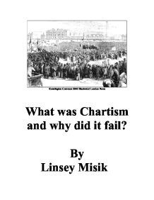 chartists and chartism essay Free essay: task 1 what evidence is there in the extract above of the three explanations for chartism's support that you have learned about in block 2, unit.
