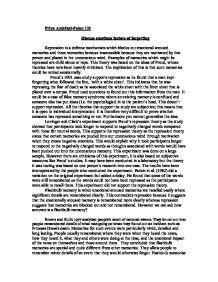 defense essay mechanism psychology