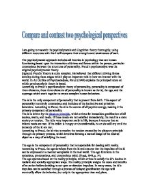the psychological perspectives essay Introduction this booklet will introduce you to the main psychological perspectives to the understanding of a child's behaviour development each perspective will be described in as much detail as possible, and the theorist that are linked to them.