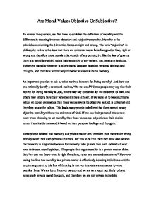 essay on importance of moral values in human life