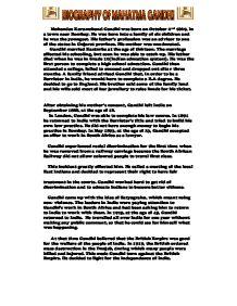 mahatma gandhi gcse religious studies philosophy ethics biography of mahatma gandhi