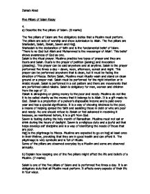 five pillars of islam essay  gcse religious studies philosophy  page  zoom in