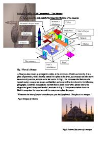 Essay on mosque