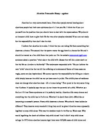 essay about abortion pro life