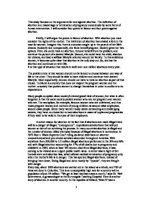 abortion essay essay on yourself for job top critical essay  arguments for and against abortion gcse religious studies page 1 zoom in