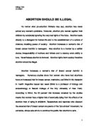 reasons why abortion should be illegal essay