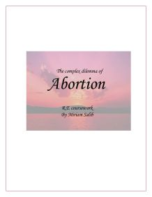 A discussion on the dilemma of abortion