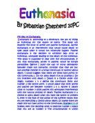 capital punishment good or bad gcse religious studies my view on euthanasia