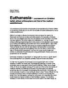 religious studies euthanasia gcse religious studies euthanasia coursework on christian belief ethical philosophers and that of the medical establishment