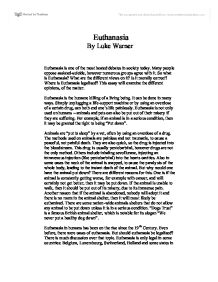 Introduction Essay About Euthanasia