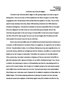 Adventist religion definition essay