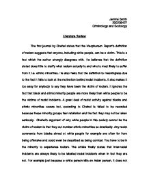 Criminology essay review