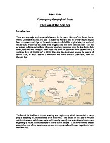 an introduction to the history of the aral sea Introduction this paper addresses background and history a typical assumption about current water use strategies in the aral sea basin is that there is no.