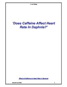 the effect of caffeine in daphnia essay