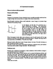 osmosis at1 essay Biology coursework: the effects of osmosis on a potato chip in sugar solution  essay by joekilty, high school, 10th grade, b, january 2004 download word file .