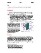 The affect of salt concentration on beetroot