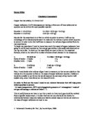 decomposition of copper carbonate coursework Free coursework for gcse, igcse, ib, a - level and university students.