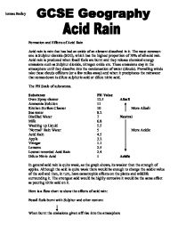 essays about acid rain