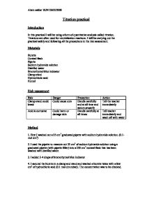 Biology a2 coursework risk assessment