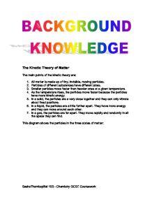 kinetic theory essay
