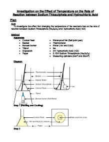 chemistry coursework rate of reaction analysis Analysis of the sequence of elementary steps making up the the aim of this course is to show you how both of these goals may be rate of reaction.