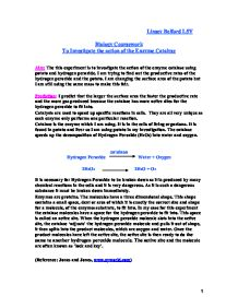 catalase gcse coursework