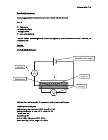 resistivity gcse coursework Length of wire and resistance coursework an investigation into the resistance of a wire - hubpages free gcse physics coursework resistivity, length physics.