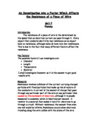 an investigation into the factors affecting the resistance of a wire To investigate how the resistance of a wire is affected by the an investigation into the factors affecting the rate of the reaction between calcium.